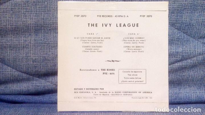 Discos de vinilo: THE IVY LEAGUE - A LO QUE PUEDE LLEGAR EL AMOR + 3 - EDICION ESPAÑOLA - PYE 1965 ESTADO COMO NUEVO - Foto 4 - 140314766