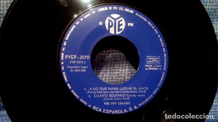 Discos de vinilo: THE IVY LEAGUE - A LO QUE PUEDE LLEGAR EL AMOR + 3 - EDICION ESPAÑOLA - PYE 1965 ESTADO COMO NUEVO - Foto 5 - 140314766