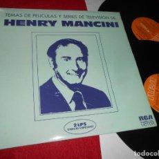 Discos de vinilo: HENRY MANCINI ORQUESTA TEMAS PELICULAS SERIES 2LP 1974 RCA ESPAÑA SPAIN IRONSIDE HATARI LOVE STORY. Lote 140316002