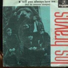 Discos de vinilo: LOS BRAVOS. LA PARADA DEL AUTOBÚS. COLUMBIA 1966. SP . Lote 140351250