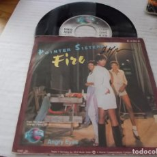 Discos de vinilo: POINTER SISTER. FIRE. ANGRY EYES. Lote 140353718