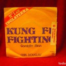 Discos de vinilo: CARL DOUGLAS -- KUNG FU FIGHTING / GAMBLIN MAN, PYE, 1979.. Lote 140362214