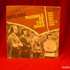 Discos de vinilo: MIDDLE OF THE ROAD -- CHIRPY CHIRPY CHEEP CHEEP / RAININ' 'N PAININ, RCA, 1971.. Lote 140362882