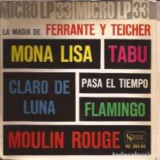 Discos de vinilo: EP FERRANTE Y TEICHER FLAMINGO TABU HISPAVOX 06404 MICRO LP 33 RPM. Lote 140364690