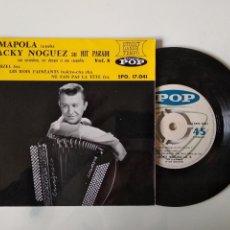 Discos de vinilo: DISCO VINILO SINGLE , AMAPOLA RUMBA JACKY NOGUEZ AU HIT PARADE VOL. 8. Lote 140371966