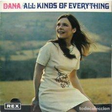 Discos de vinilo: DANA: LP ALL KINDS OF EVERYTHING, ORIGINAL UK 1970. Lote 140372270