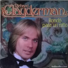 Discos de vinilo: RICHARD CLAYDERMAN-RONDÓ PARA UN NIÑO, DELPHINE-S 90.459. Lote 140376014