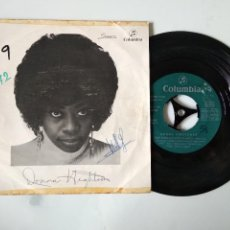 Discos de vinilo: DISCO VINILO SINGLE , DONNA HIGHTOWER , THIS WORLD TODAY IS A MESS , DREAMS LIKE MINE. Lote 140376154