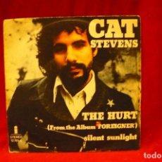 Discos de vinilo: CAT STEVENS -- THE HURT / SILENT SUNLIGHT, 1973.. Lote 140377254