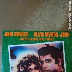 Discos de vinilo: GREASE, OLIVIA NEWTON & TRAVOLTA. CURIOSO SINGLE EDICIÓN DE HUNGRÍA.. Lote 140378608