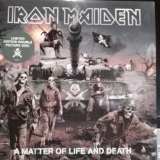 Discos de vinilo: IRON MAIDEN A MATTER OF LIFE AND DEATH. Lote 140385442