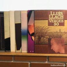 Discos de vinilo: LLUÍS LLACH _PACK 8LP_ BUEN ESTADO, ALGUNA CARPETA ROSADA PERO MUY BIEN_GAT. Lote 140389614