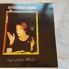 Discos de vinilo: SUZANNE VEGA DAYS OF OPEN HAND LP. Lote 140391465