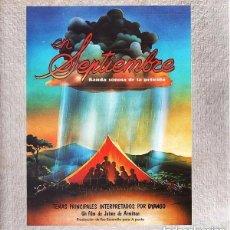 Discos de vinilo: EN SEPTIEMBRE (BANDA SONORA ORIGINAL) - DYANGO... Y OTROS - LP SPAIN 1981 (JAIME DE ARMIÑAN). Lote 140398810