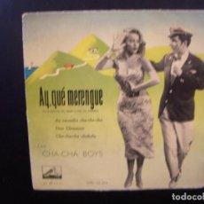 Discos de vinilo: LES CHA CHA BOYS- AY, QUE MERENGUE. EP.. Lote 140400214