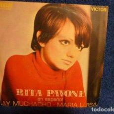 Disques de vinyle: RITA PAVONE EN ESPAÑOL AY MUCHACHO -MARIA LUISA -. Lote 140404098