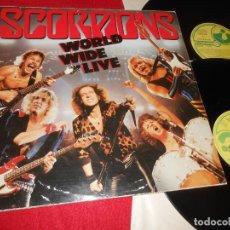 Discos de vinilo: SCORPIONS WORLD WIDE LIVE 2LP 1985 EMI EDICION ESPAÑOLA SPAIN. Lote 140415266