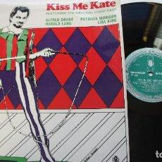 Discos de vinilo: KISS ME KATE - COLE PORTER - MADE IN UK - STEREO - 1967? - COMO NUEVO. Lote 140420422
