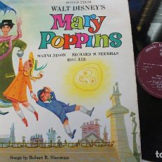 Discos de vinilo: MARY POPPINS - SONGS FROM WALT DISNEY´S - ,MADE IN UK 1965 - MFP1065. Lote 140421282