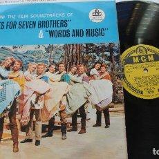 Discos de vinilo: SEVEN BRIDES FOR SEVEN BROTHERS - MADE IN UK MONO 1960 - COMO NUEVO. Lote 140422454