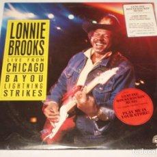 Discos de vinilo: LONNIE BROOKS ''LIVE FROM CHICAGO'' ( BAYOU LIGHTNING STRIKES ) USA-1988 LP33 ALLIGATOR. Lote 140424414