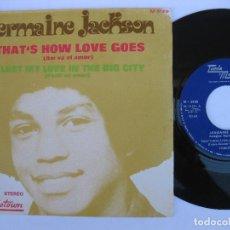 Discos de vinilo: JERMAINE JACKSON - 45 SPAIN PS - EX * THAT'S HOW LOVE GOES * TAMLA MOTOWN M-5129. Lote 140426382