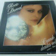 Discos de vinilo: ROCIO DURCAL - CUANDO DECIDAS VOLVER - LP - 1981-N. Lote 140428414