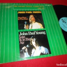 Discos de vinilo: JOHN PAUL YOUNG STANDING IN THE RAIN/LOVE IS IN THE AIR MX 12'' ZYX EDICION ALEMANA GERMANY. Lote 140429350