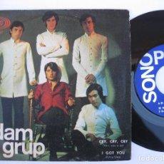 Discos de vinilo: ADAM GRUP - 45 SPAIN PS - PROMO * EX * CRY, CRY, CRY / I GOT YOU ( JAMES BROWN COVER ). Lote 140431482