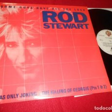 Discos de vinilo: ROD STEWART SOME GUYS HAVE ALL THE LUCK/+2 MX 12'' 1984 WB PROMO EDICION ESPAÑOLA SPAIN. Lote 140431598