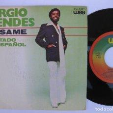 Discos de vinilo: SERGIO MENDES - 45 SPAIN PS - AVISAME * CANTADO EN ESPAÑOL * COMO NUEVO. Lote 140434694