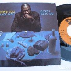Discos de vinilo: MEMPHIS SLIM - 45 FRANCE PS - HANDY MAN / MASON DIXON LINE. Lote 140434778