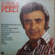Discos de vinilo: LP LO MEJOR DE PERET. Lote 140437432
