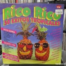 Discos de vinilo: RICO RICO , 50 EXITOS TROPICALES .3XLP. Lote 140439150