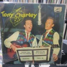 Discos de vinilo: TONY AND CHARLEY - RAMONA / DEMASIADO JOVEN PARA ESTAR ENAMORADO / PARA MI / NOCHE EN EL PAIS DE LAS. Lote 140441650