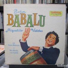 Discos de vinilo: MIGUELITO VALDES CON SONORA MATANCERA Y NORO MORALES Y SU ORQUESTA- SEÑOR BABALU (LP) USA . Lote 140442658