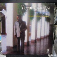 Discos de vinilo: VICENTICO VALDÉS CON ORQUESTA BOBBY VALENTIN - EN LA LEJANIA (LP) 1983 PUERTO RICO. Lote 140442834