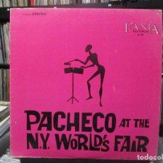 Discos de vinilo: JOHNNY PACHECO - AT THE NEW YORK WORLD'S FAIR -- LP USA . Lote 140443442