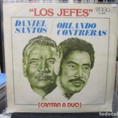 Discos de vinilo: DANIEL SANTOS & ORLANDO CONTRERAS - LOS JEFES (LP) USA. Lote 140443926