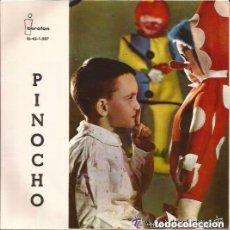 Discos de vinilo: TEATRO RADIO NACIONAL DE ESPAÑA - LUIS FERRER - PINOCHO - SINGLE IBEROFON 1961 (DISCO MULTICOLOR). Lote 140445822