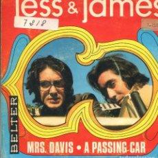 Discos de vinilo: JESS & JAMES / MRS. DAVIS / A PASSING CAR (SINGLE 1969). Lote 140454962