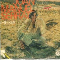 Dischi in vinile: JOAN MANUEL SERRAT / FIESTA / SEÑORA (SINGLE PROMO 1970). Lote 140455558