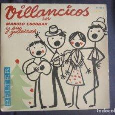 Discos de vinilo: VILLANCICOS POR MANOLO ESCOBAR Y SUS GUITARRAS * BELTER * 1973. Lote 140466090
