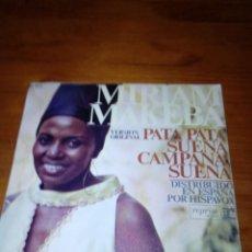 Discos de vinilo: MIRIAM MAKEBA. PATA PATA SUENA CAMPANA SUENA. MRV. Lote 140468474