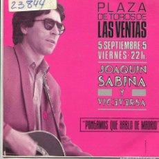 Discos de vinilo: JOAQUIN SABINA Y VICEVERSA / PONGAMOS QUE HABLO DE MADRID (SINGLE PROMO 1986). Lote 140468538