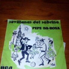 Discos de vinilo: SEVILLANAS CRITICONAS. PEPE DA ROSA. MRV. Lote 140469814