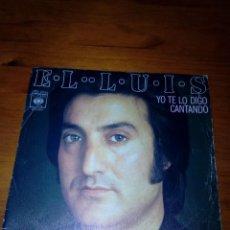 Discos de vinilo: EL LUIS YO TE LO DIGO CANTANDO. EL AIRE. MRV. Lote 140469938