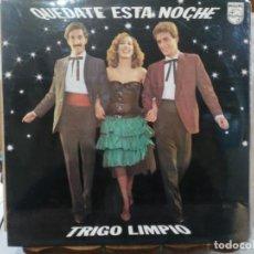 Discos de vinilo: TRIGO LIMPIO - QUÉDATE ESTA NOCHE - LP. DEL SELLO PHILIPS DE 1980. Lote 140476814