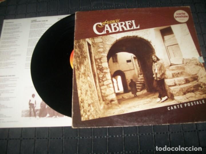 francis cabrel - carte postale - edicion fr - Vendido en Subasta - 140486442