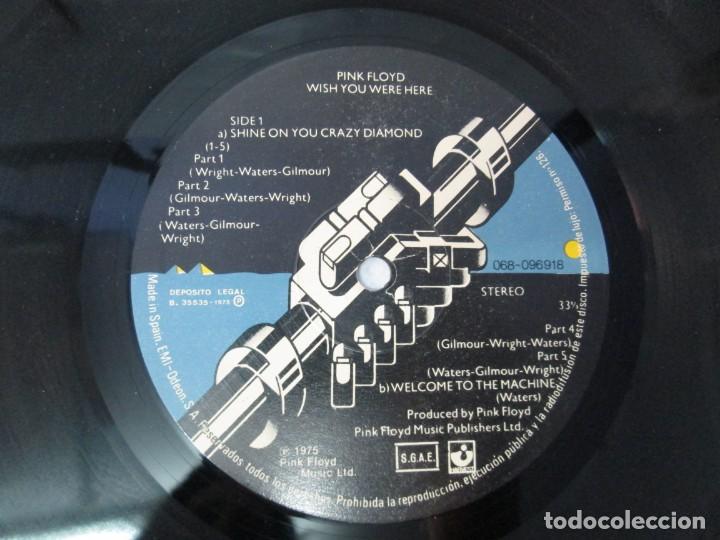 Discos de vinilo: PINK FLOYD. WISH YOU WERE HERE. LP VINILO. EMI ODEON. 1975. VER FOTOGRAFIAS ADJUNTAS - Foto 4 - 140491554